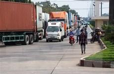 Tây Ninh: Ùn tắc giao thông cục bộ tại Cửa khẩu quốc tế Mộc Bài
