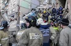 Vụ sập nhà chung cư ở Nga: Công tác cứu nạn gặp nhiều khó khăn