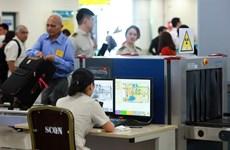 [Photo] An ninh hàng không tại Nội Bài được triển khai ở cấp cao nhất