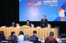 Họp báo quốc tế về công tác chuẩn bị Thượng đỉnh Hoa Kỳ-Triều Tiên