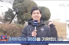 Công Phượng xuất hiện trên MBC, dự báo thời tiết thượng đỉnh Mỹ-Triều