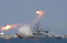 Nga phóng tên lửa chống hạm trong cuộc tập trận ở Biển Đen