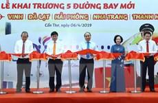 Thủ tướng dự khai trương 5 đường bay mới đi, đến Cần Thơ