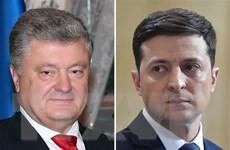 Hai ứng cử viên Tổng thống Ukraine tìm kiếm sự ủng hộ quốc tế