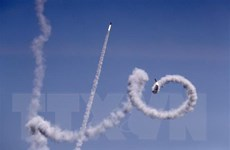 Israel tuyên bố tấn công mạnh mẽ để đáp trả các vụ nã rocket từ Gaza