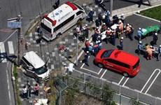 [Video] Xe tải mất lái đâm vào học sinh mầm non ở Nhật Bản