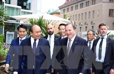 Hình ảnh Thủ tướng dự diễn đàn Doanh nghiệp Việt Nam-Thụy Điển