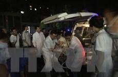 Các nạn nhân động đất được chữa trị kịp thời nhờ xe cứu thương mạng 5G