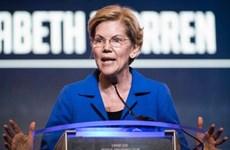 Tỷ lệ ủng hộ ứng cử viên Tổng thống Mỹ Elizabeth Warren tiếp tục tăng