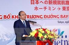Thủ tướng Nguyễn Xuân Phúc dự lễ công bố 2 đường bay mới tới Nhật Bản