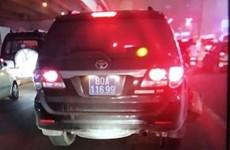 Bắc Kạn: 13 xe biển xanh bị cảnh sát giao thông 'phạt nguội'