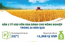 [Infographics] Gần 2 tỷ USD vốn ODA dành cho nông nghiệp trong 20 năm