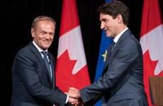 Hội nghị thượng đỉnh EU-Canada bàn về hiệp định thương mại toàn diện
