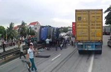 [Video] Hiện trường vụ tai nạn giao thông nghiêm trọng ở Hải Dương