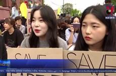 [Video] Hàng nghìn người Hàn Quốc 'giả chết' kêu gọi bảo vệ môi trường