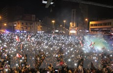 Tổng thống Liban tuyên bố sẵn sàng đối thoại với người biểu tình