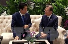 Tổng thống Moon đánh giá cuộc gặp với Thủ tướng Abe 'có ý nghĩa'