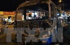 Bình Phước: Xe khách 24 chỗ bất ngờ bốc cháy, trơ lại khung sắt