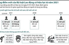 [Infographics] Những điểm mới của Bộ luật Lao động sửa đổi