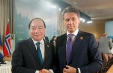 [Video] Thủ tướng cộng hòa Italy bắt đầu thăm chính thức Việt Nam