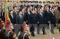 Nhà lãnh đạo Triều Tiên Kim Jong-un đi thị sát đầu năm
