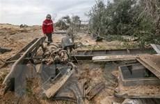 Máy bay chiến đấu Israel tấn công các căn cứ của Hamas tại Dải Gaza