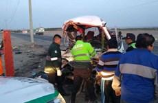 Tai nạn giao thông nghiêm trọng ở Peru, ít nhất 10 người thiệt mạng