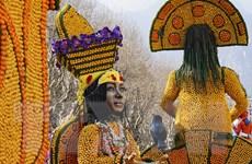 Những hình ảnh độc đáo rực rỡ sắc màu tại lễ hội chanh ở Pháp