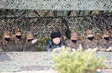 Ông Kim Jong-un giám sát vụ thử nghiệm vũ khí dẫn đường chiến thuật
