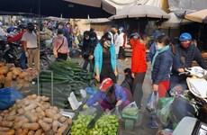 Hình ảnh nhộn nhịp chợ đầu mối phía Nam Thủ đô giữa mùa dịch COVID-19