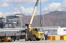 Đưa máy siêu biến áp 500kV phục vụ dự án điện Mặt Trời