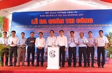 Thi công dự án cải tạo nâng cấp cầu yếu tuyến đường sắt Bắc-Nam