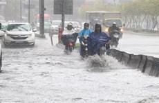 Mưa lớn gây ngập nhẹ nhiều khu vực tại Thành phố Hồ Chí Minh