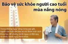 [Infographics] Người cao tuổi nên làm gì để bảo vệ sức khỏe mùa nóng?