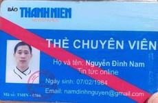 Mạo danh chuyên viên của Báo Thanh niên để xin bỏ qua lỗi giao thông