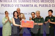 Bộ Quốc phòng trao tặng vật tư y tế hỗ trợ Cuba phòng, chống COVID-19