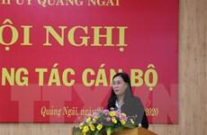 Bà Bùi Thị Quỳnh Vân được bầu làm Bí thư Tỉnh ủy Quảng Ngãi
