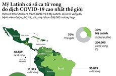 [Infographics] Hơn 206.000 người ở Mỹ Latinh tử vong vì COVID-19