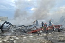 Cháy lớn tại Công ty JAANH Vina ở Bắc Ninh, 1 nhà xưởng bị sập