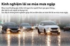 [Infographics] Kinh nghiệm để lái xe an toàn mùa mưa ngập