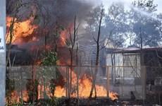 Hải Phòng: Kịp thời dập tắt đám cháy lớn tại kho xăng dầu