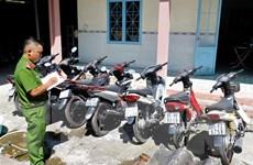 Cảnh sát triệt phá ổ nhóm chuyên trộm xe máy ở Cần Thơ