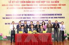 Lễ ký kết chương trình hỗ trợ doanh nghiệp Việt Nam tại Bắc Ninh
