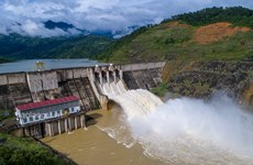 Nước đổ về hồ tăng nhanh, Nhà máy Thủy điện Bắc Hà thông báo xả lũ