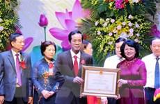 Bà Đặng Thị Ngọc Thịnh dự Đại hội Thi đua yêu nước tỉnh Quảng Bình