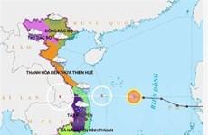 Áp thấp nhiệt đới gây gió giật cấp 8 ở vùng biển, mưa to ở Trung Bộ
