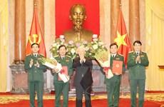 Trao Quyết định thăng quân hàm cho 2 hai tướng quân đội