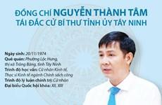 [Infographics] Ông Nguyễn Thành Tâm tái đắc cử Bí thư Tỉnh ủy Tây Ninh