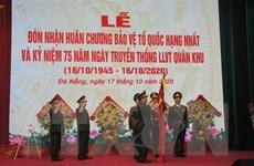 Quân khu 5 vinh dự đón nhận Huân chương Bảo vệ Tổ quốc hạng Nhất