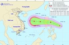 Áp thấp nhiệt đới cách bờ biển miền Trung Philippines khoảng 440km